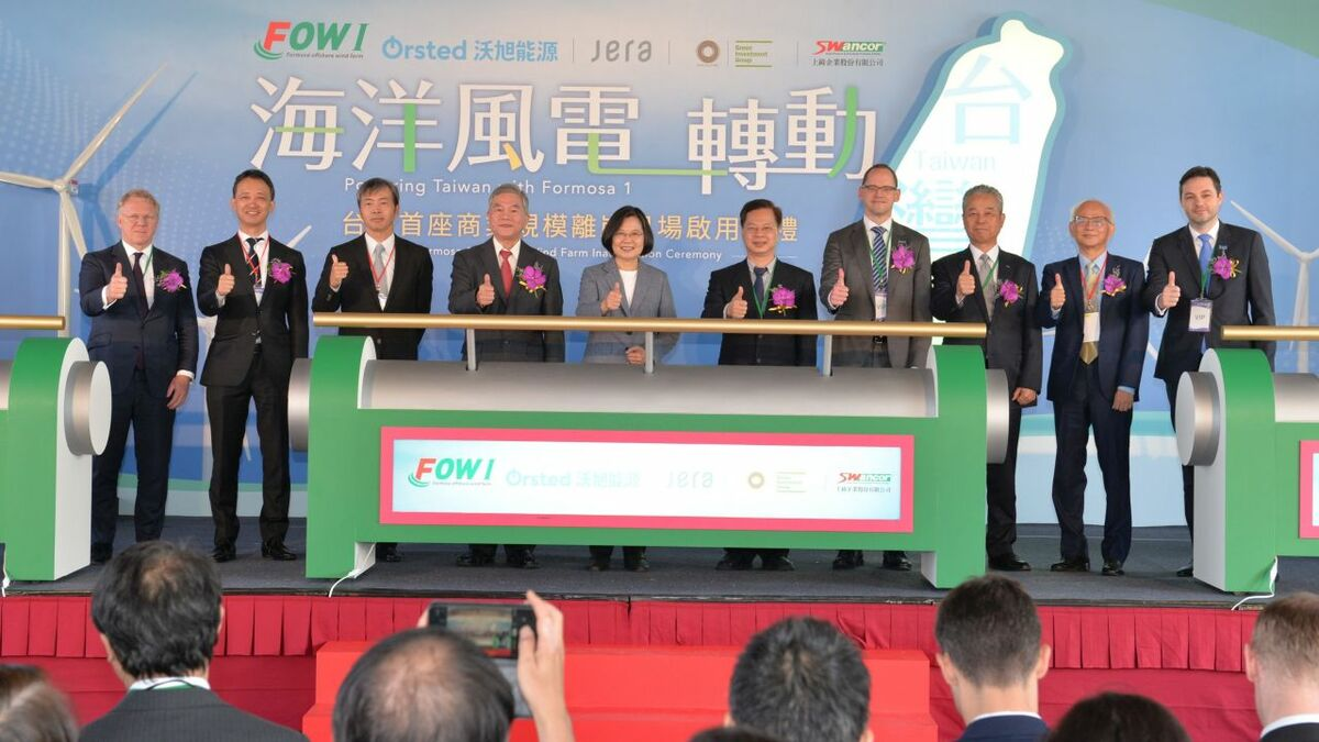 President Tsai Ing-wen's re-election has given Taiwan's offshore wind industry a huge boost