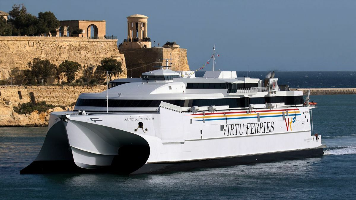 Incat's waterjet-powered Saint John-Paul II, the biggest high-speed ferry on the Mediterranean