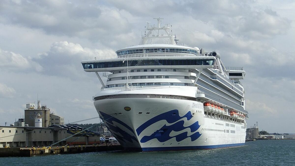 Diamond Princess is moored in a Japanese port with over 450 cases of Coronavirus