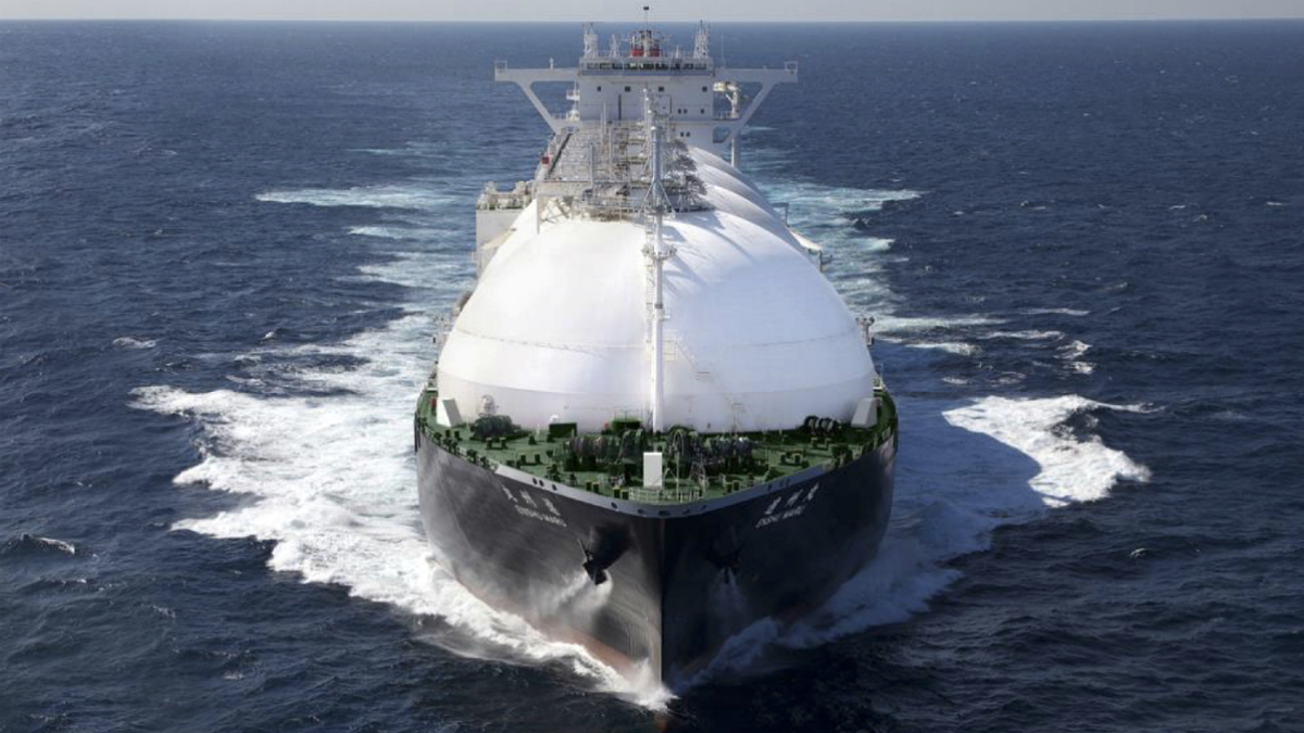 K Line's newest LNG carrier, Enshu Maru carries LNG under charter to Jera