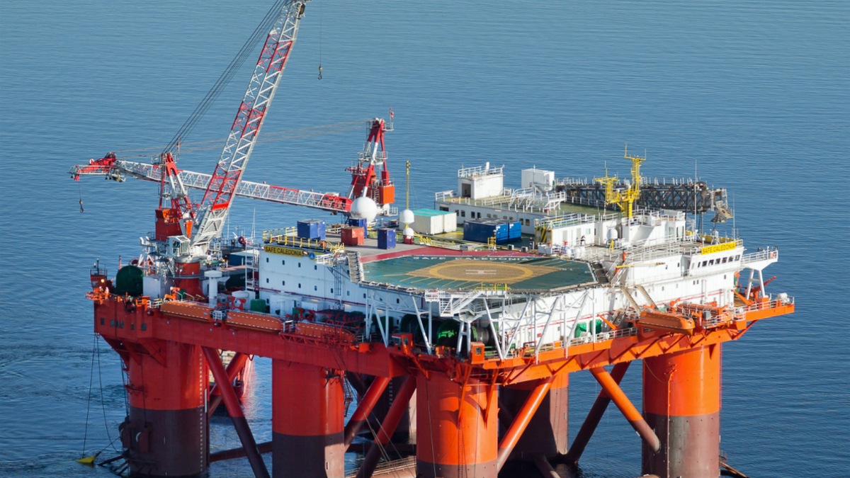 Safe Caledonia is one of eight semi-submersible accommodation vessels owned by Prosafe