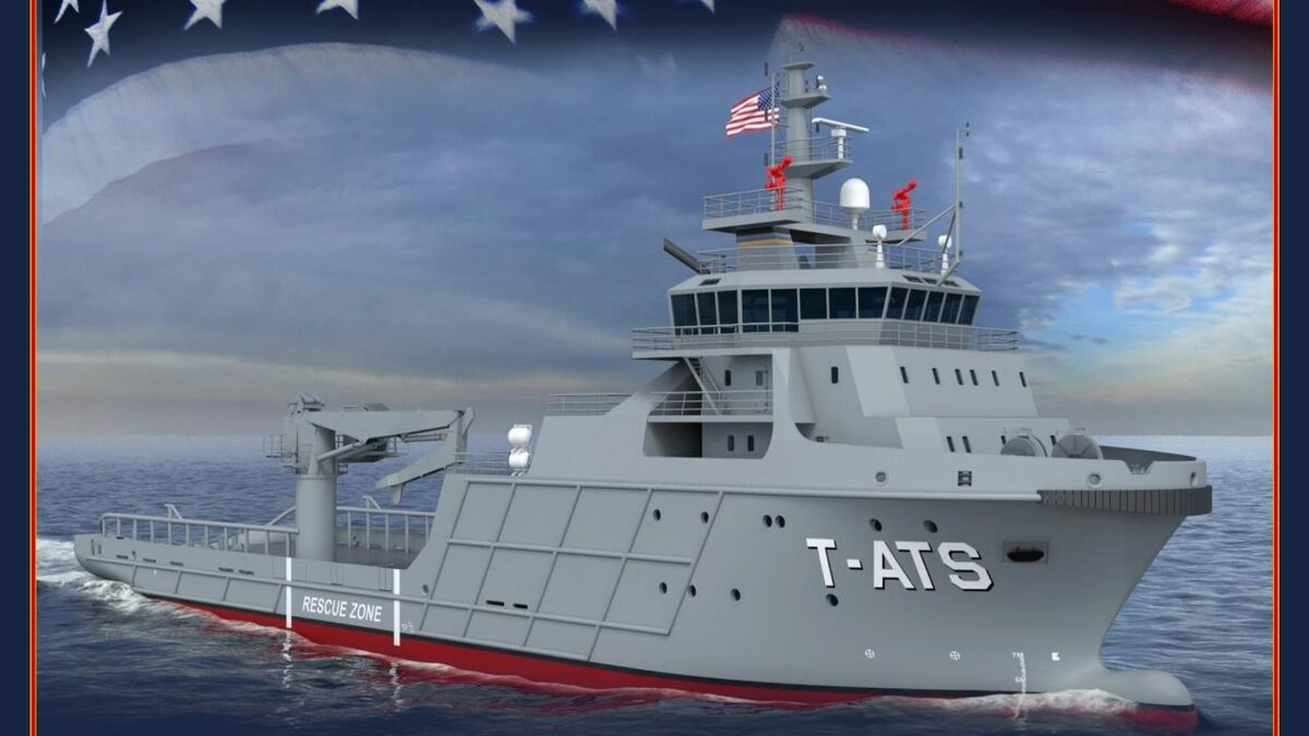 Gulf Island Shipyard is building a US Navy Navajo-class towing salvage and rescue vessel