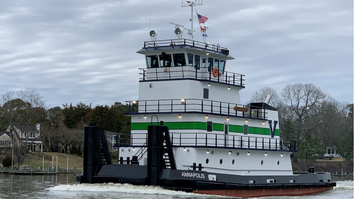 Chesapeake Shipbuilding delivered pusher tug Annapolis to Vane Brothers