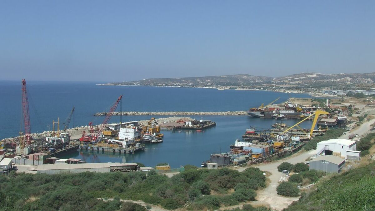 Port and shipping activity in Cyprus where online ship registry will be introduced