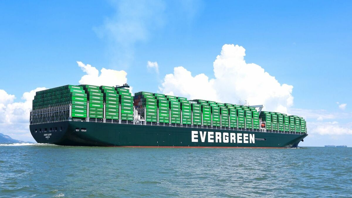 Ever Given is a 20,000 TEU ultra-large container vessel operated by Taiwan-based Evergreen Marine Corporation (source: Evergreen)