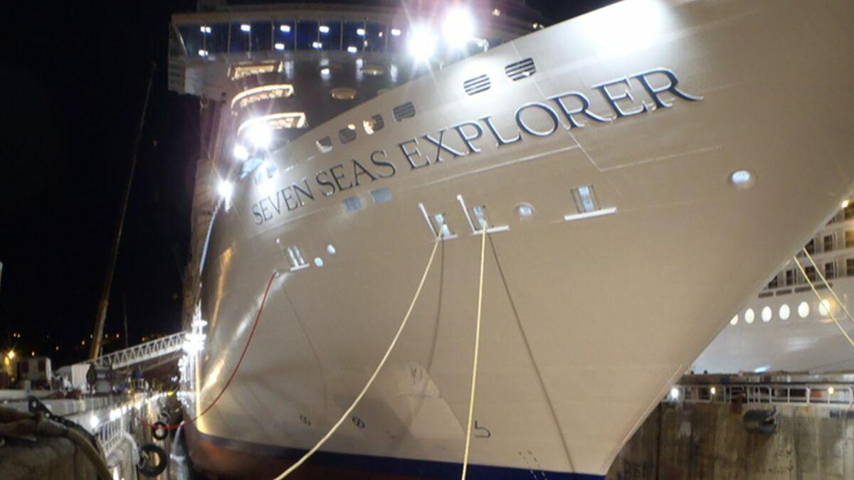 Seven Seas Explorer has had Nippon Paint Marine's A-LF-Sea hull coating applied
