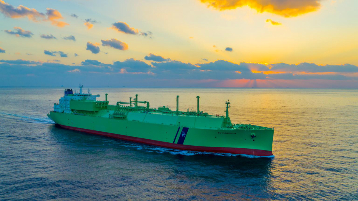 BW Magnolia is fitted with highly efficient ME-GI propulsion to reduce fuel consumption