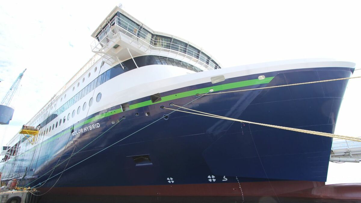 Color Hybrid's rudder, propeller and hull have been integrated for fuel efficiency (Ulstein Group)