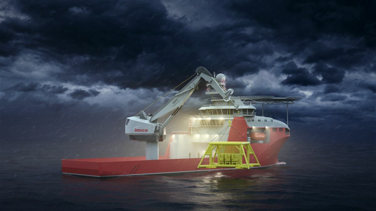 The Agilis fibre knuckle-boom crane can make larger subsea lifts from smaller vessels