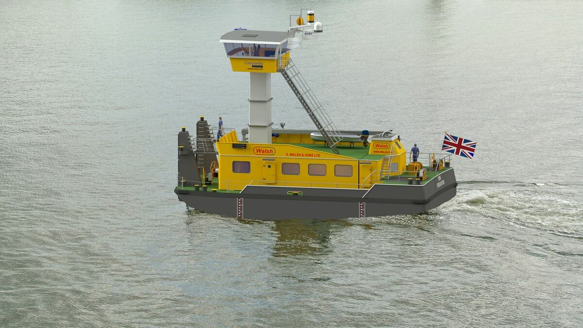 An artist's impression of Damen's CS2010 pusher tug