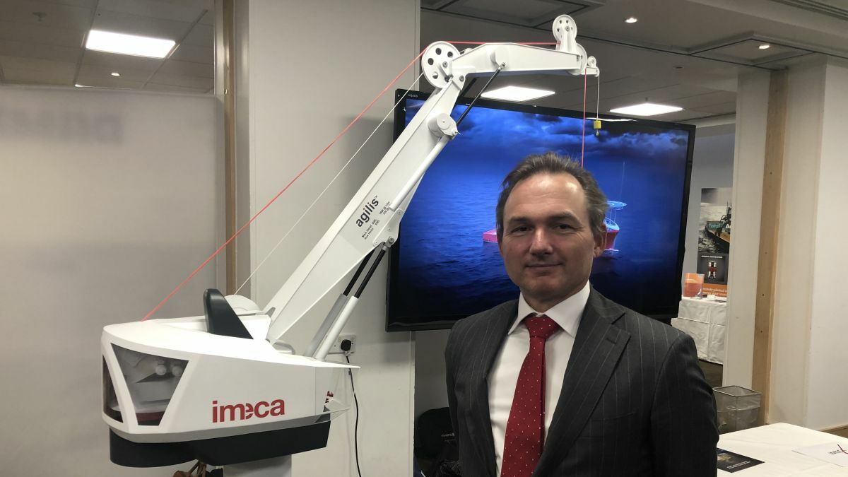 "Mattijs Faber (Imeca): ""The Agilis Subsea Crane can deliver its SWL at practically unlimited depth"""