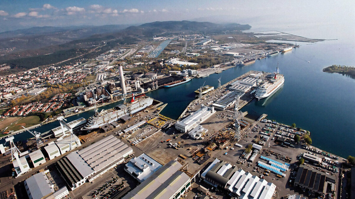 Monfalcone Shipyard: Fincantieri's Italian yards will stop work for two weeks