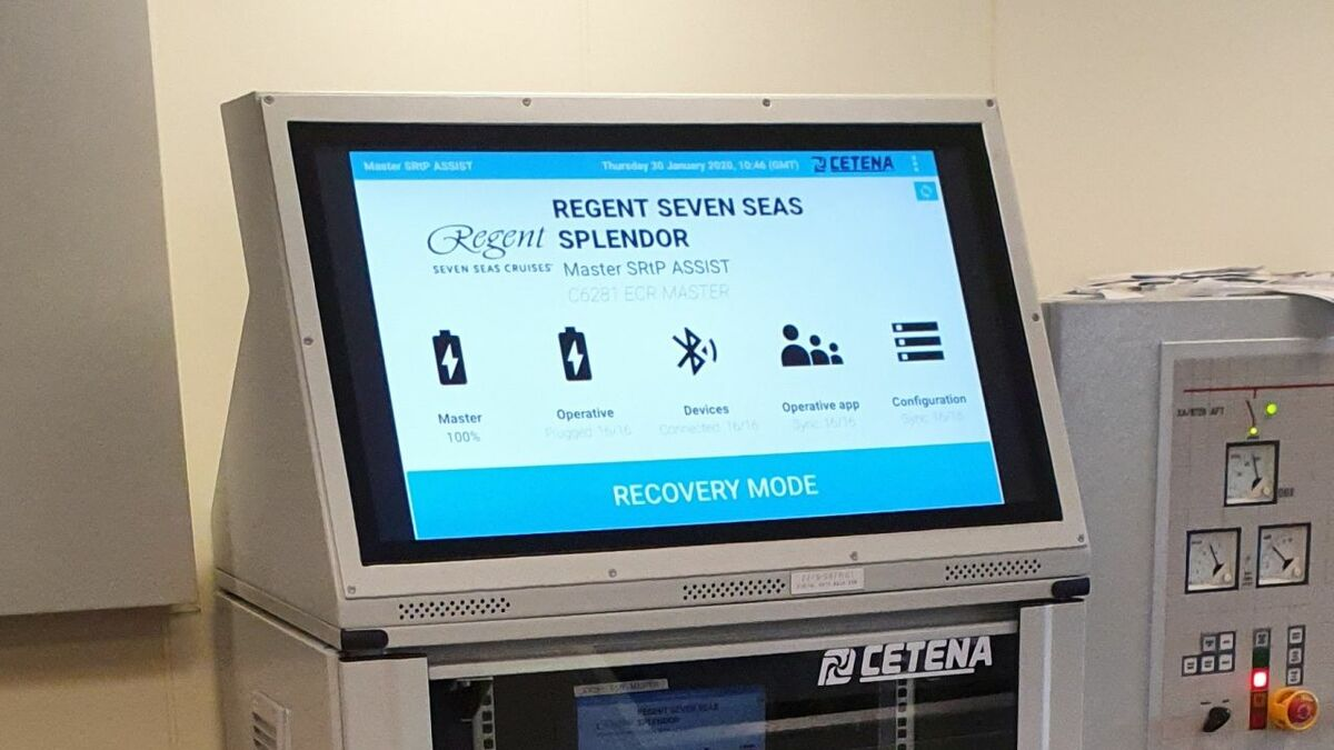 CETENA's ASSIST SRtP tool has been installed on Seven Seas Splendor (credit: CETENA)