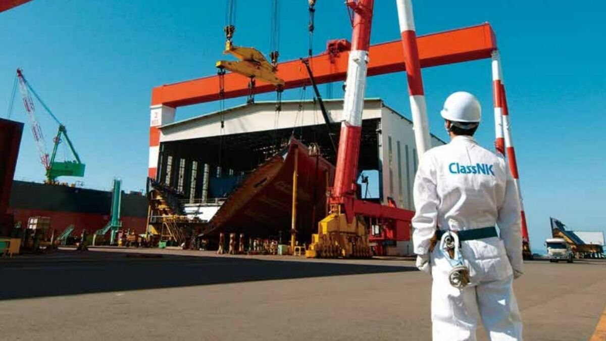 ClassNK inspects ships under construction in shipyards and when in service