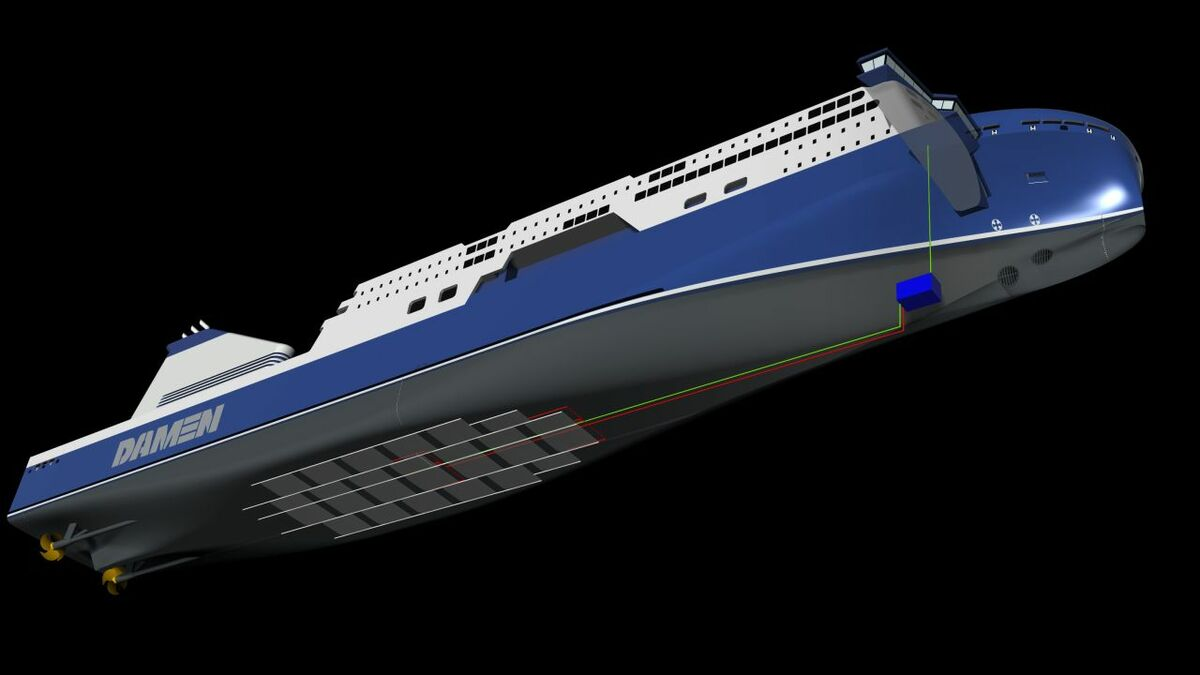 Damen Air Cavity System cuts fuel consumption for cruise ships