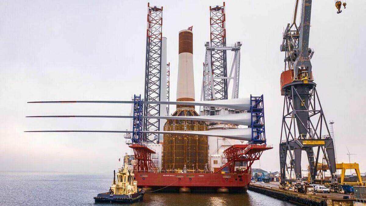 Two turbines were due to be installed on mono buckets at Deutsche Bucht