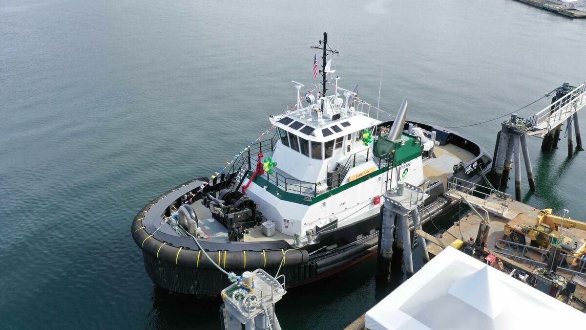 Jamie Ann is a Jensen-designed escort tug with 90 tonnes of bollard pull