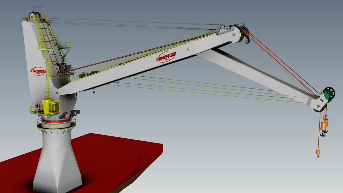 Kenzfigee's new rope-actuated knuckle-boom crane increases control over suspended loads