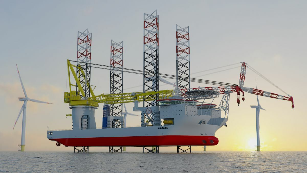New class of installation vessels to handle 'super-sized' wind turbines