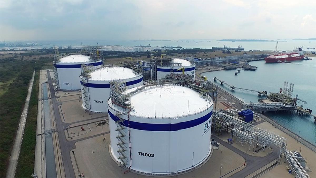 SLNG terminal has three 180,000-m3 tanks and one 260,000-m3 storage tank