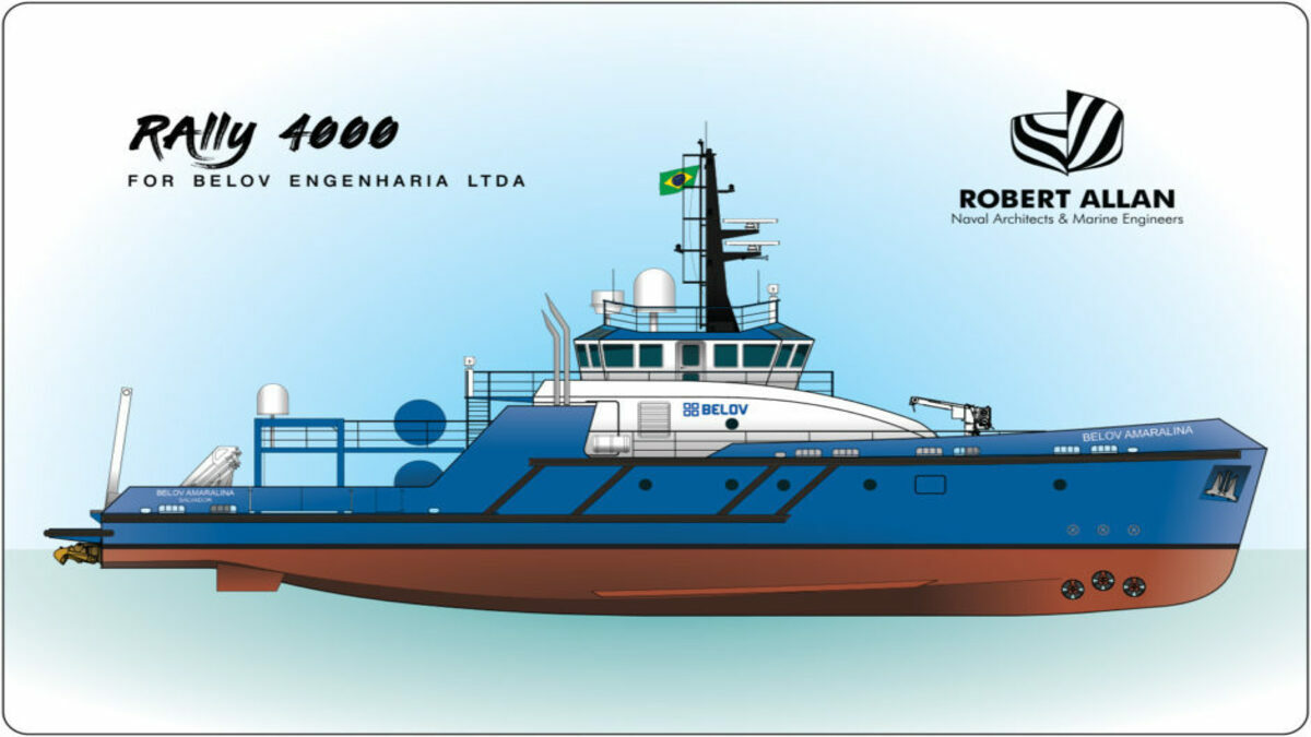The vessels were certified by RINA as diving support vessels suitable for unrestricted navigation