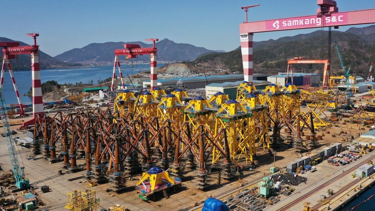 The jacket foundations for Changhua are being fabricated in South Korea