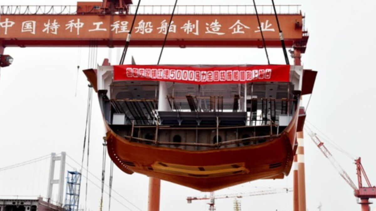 Jiangsu Zhenjiang Shipyard lays keel of a new ASD tug in China