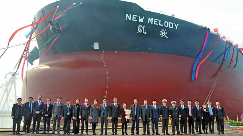 CMES took delivery of New Melody from Dalian Shipbuilding on 11 March 2019 (image source: CMES)