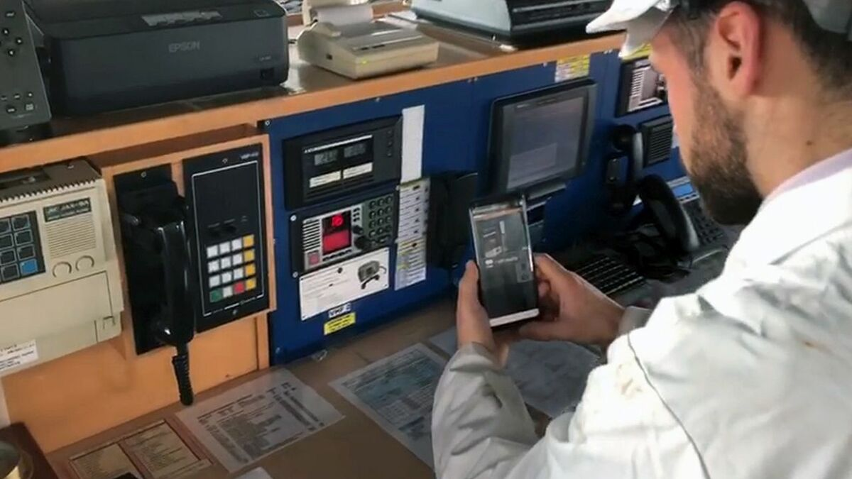 RINA's remote inspections are conducted through a smartphone app
