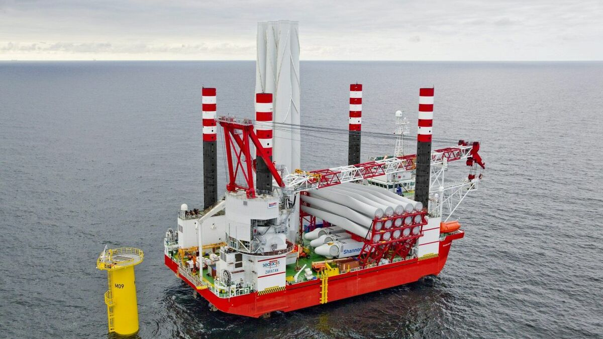 Seajacks' installation vessel Zaratan will install the foundations for the Japanese project