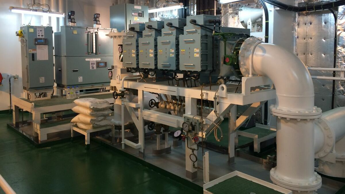 Techcross ballast water treatment system installation technology covered by patents