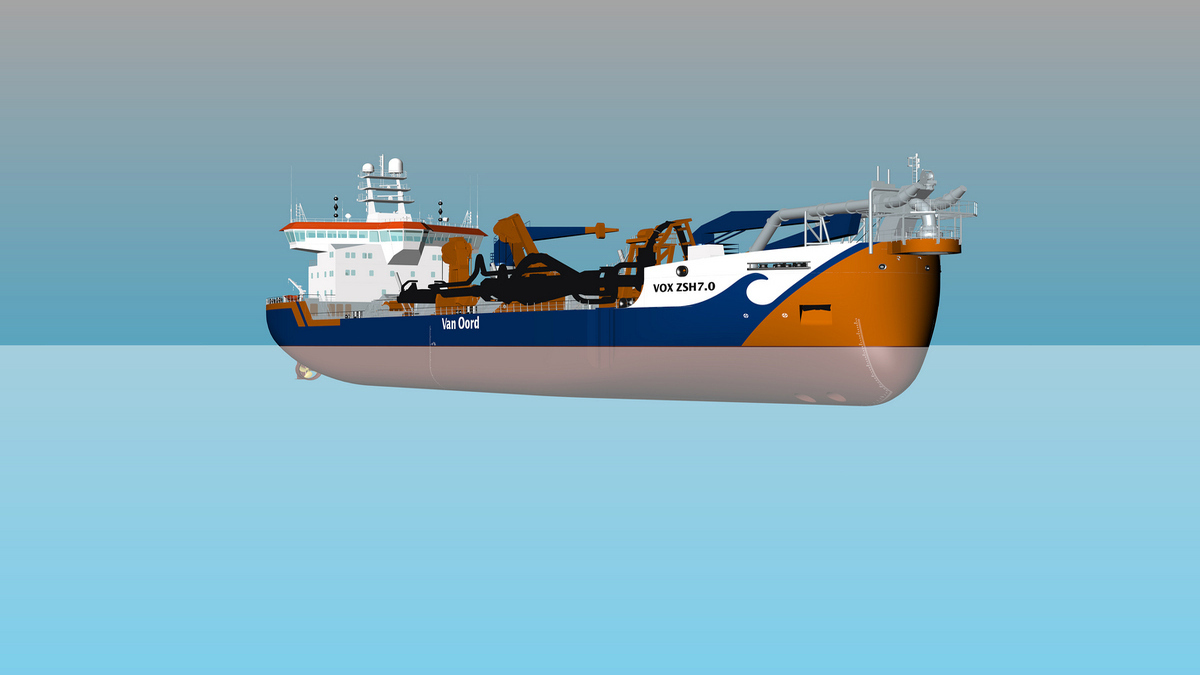 Van Oord's trailing suction hopper dredgers will have a hopper capacity of 10,500 m³