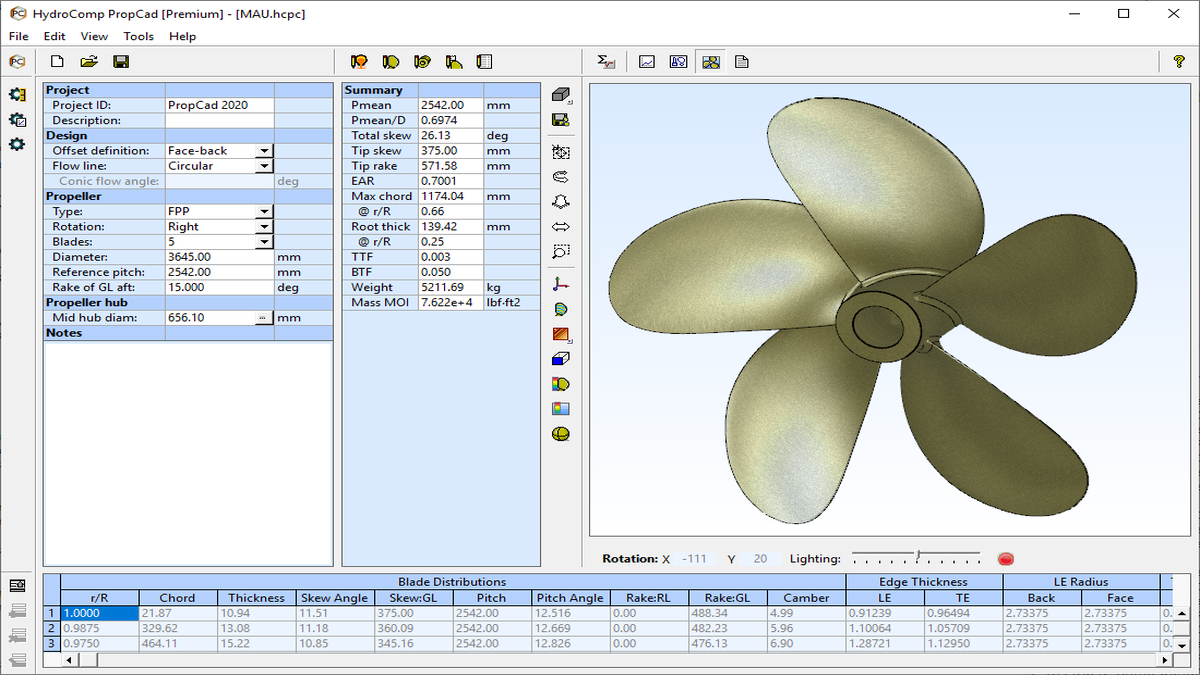 HydroComp upgrades propeller design software