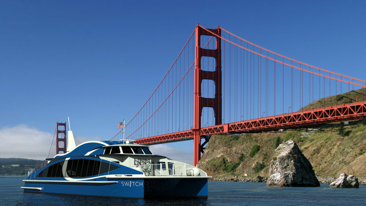 Switch Maritime's flagship hydrogen fuel e-ferry will operate in San Francisco  (Credit: Switch Maritime)