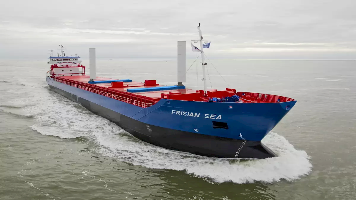 Boomsma's Frisian Sea with wind-assisted propulsion; photo for illustration (credit: Boomsma Shipping)