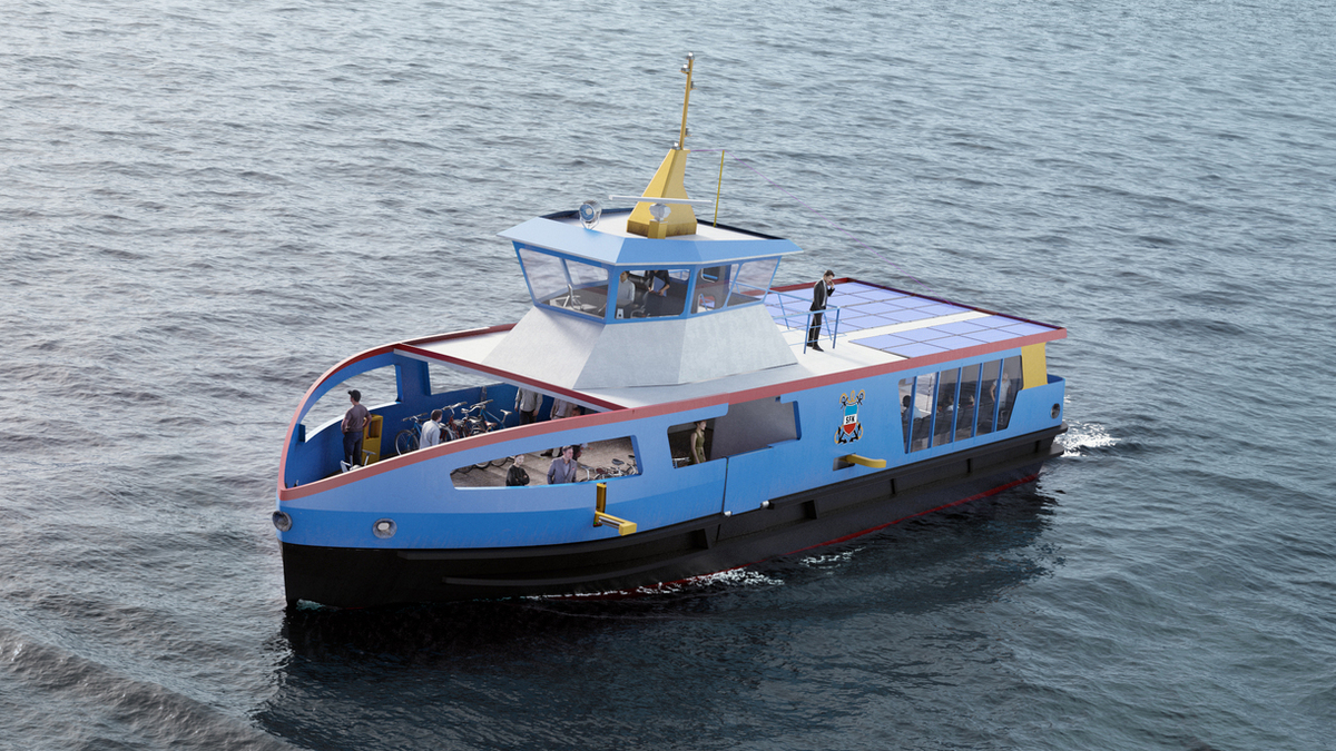 Holland Shipyards Group lays keel for SFK's electric ferry