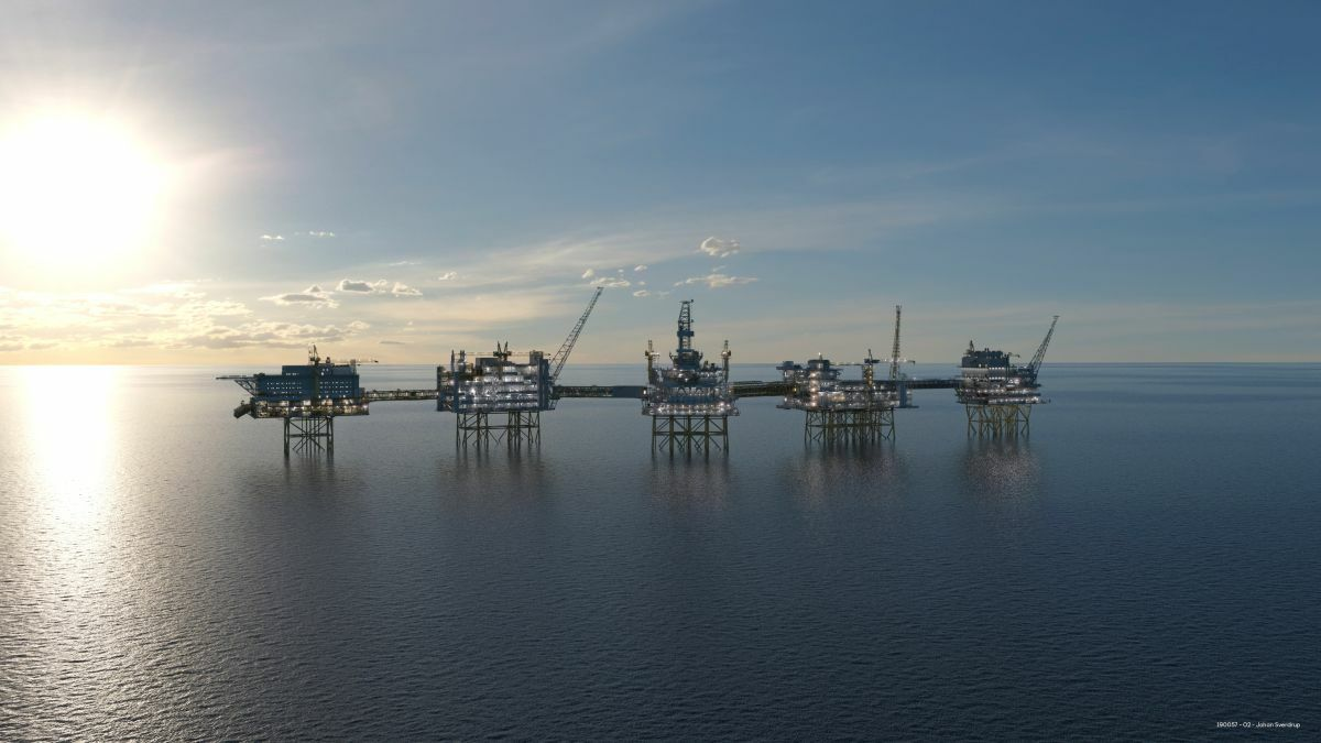 The Johan Sverdrup field is expected to reach 470,000 b/d in May 2020 (image: Equinor)