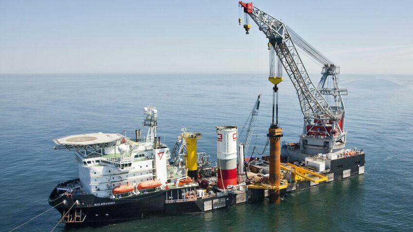 Seaway 7 first used CAPE Holland VLTs in 2012 to drive the monopiles for the Riffgat offshore windfarm