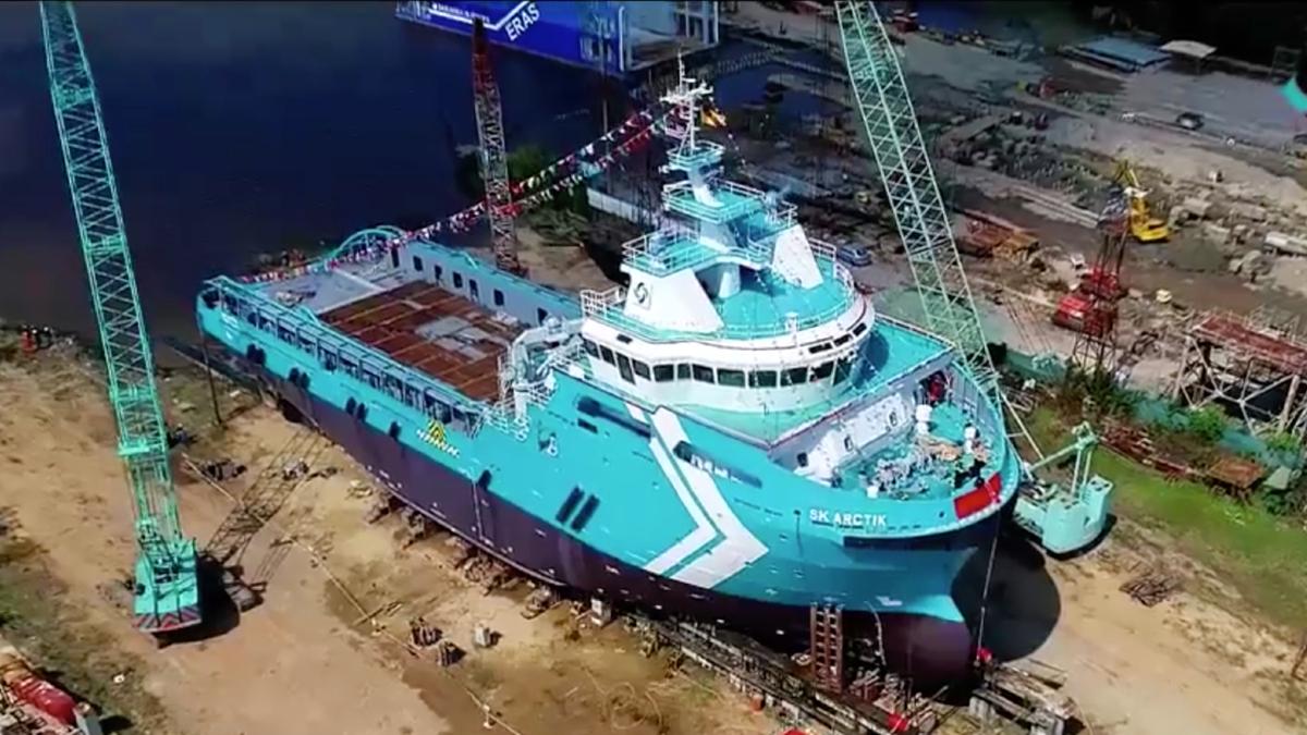Newbuild AHTS launched at Malaysian shipyard