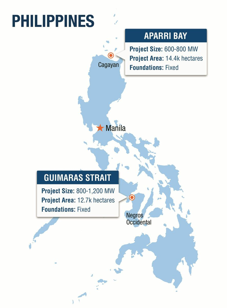 Triconti's proposed projects are in the north, at Aparri Bay and in the central Philippines