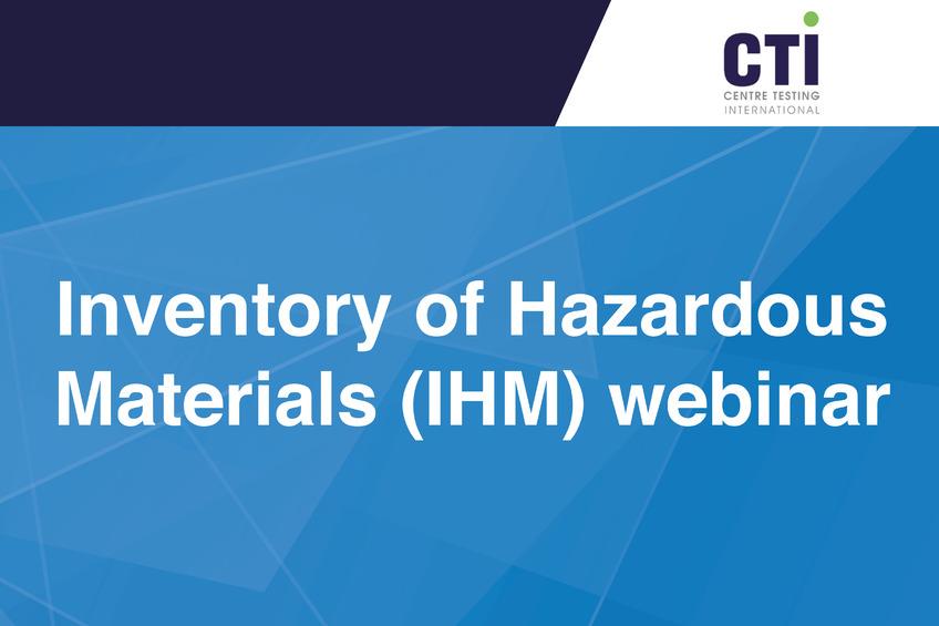Inventory of Hazardous Materials webinar