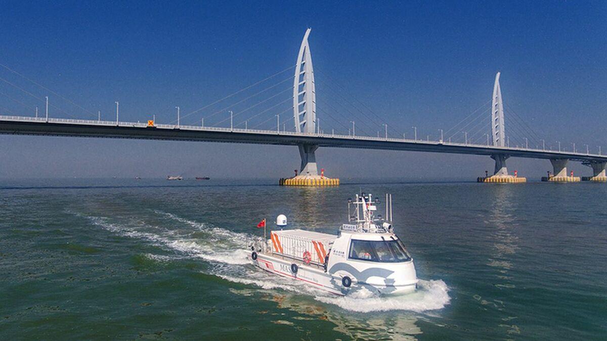 Yunzhou Tech's trials with autonomous cargo vessel Jin Dou Yun 0 Hao