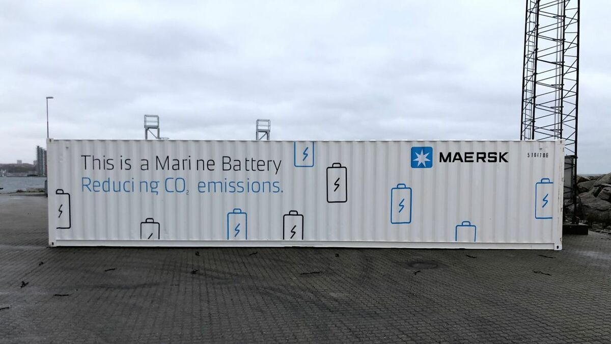 A containerised 600-kWh marine battery system will be installed in a trial on board Maersk Cape Town