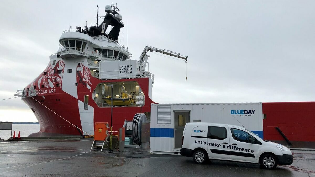 Kleven's Ocean Art II vessel and BluEco Shore power (Credit: Blueday technology)