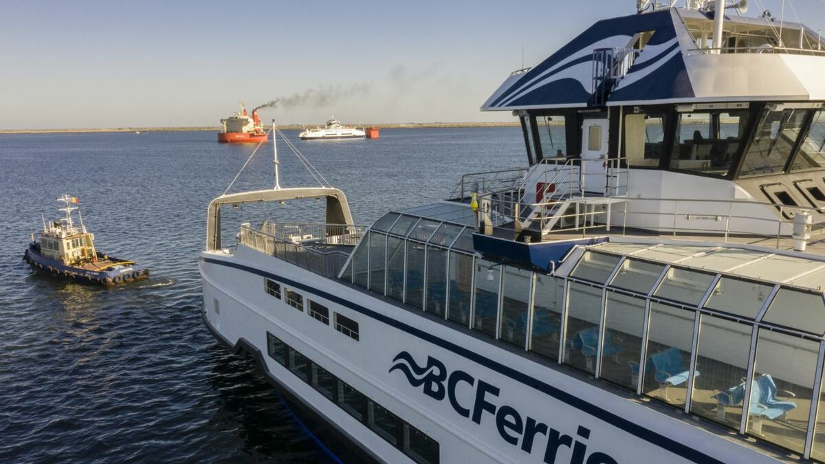 The hybrid-electric Island-class ferries will be converted to full electric once shore power is available