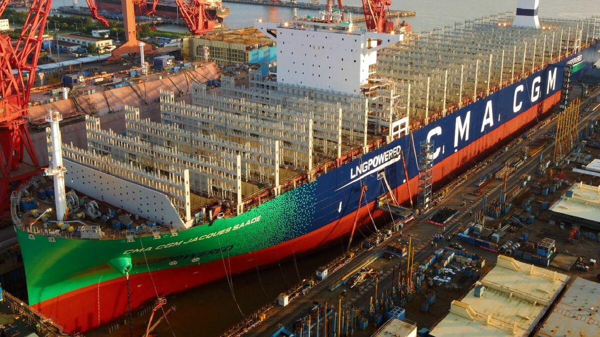 CMA CGM Jacques Saade's delivery has been pushed to June 2020, a seven-month delay