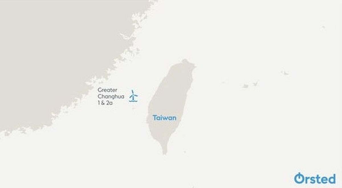 The Greater Changhua offshore windfarms are in the Taiwan Strait, off Changhua County