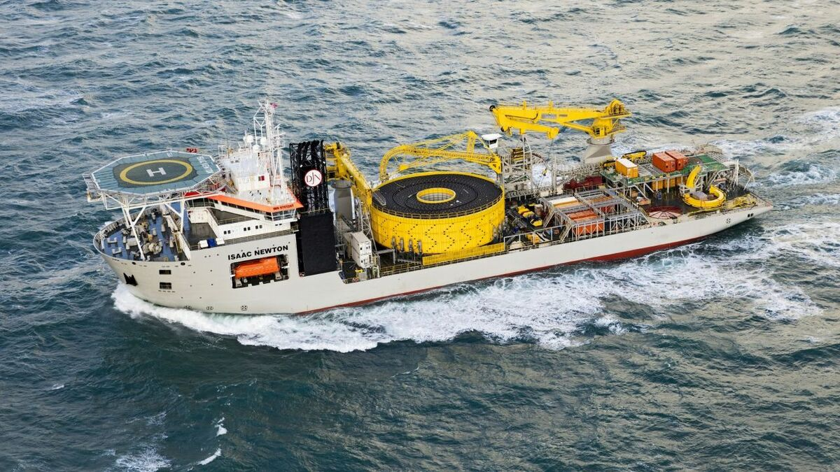 Jan De Nul will assign the cable-lay vessel Isaac Newton to the Dutch project