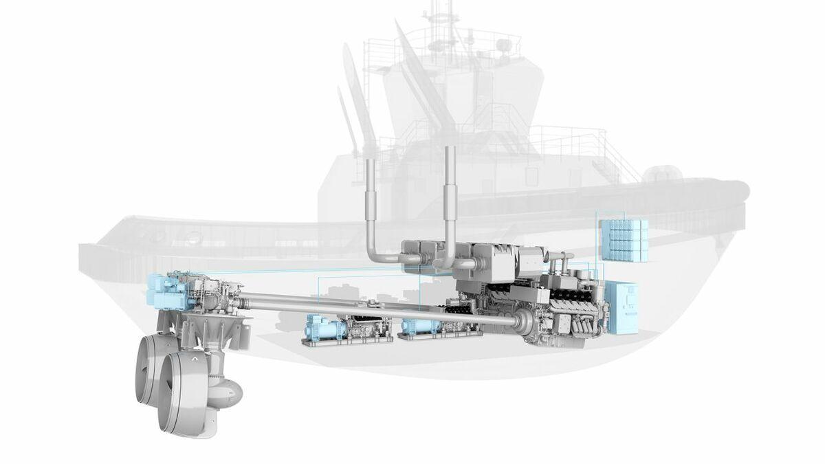 MAN's hybrid propulsion system on an 80-tonne bollard pull harbour tug