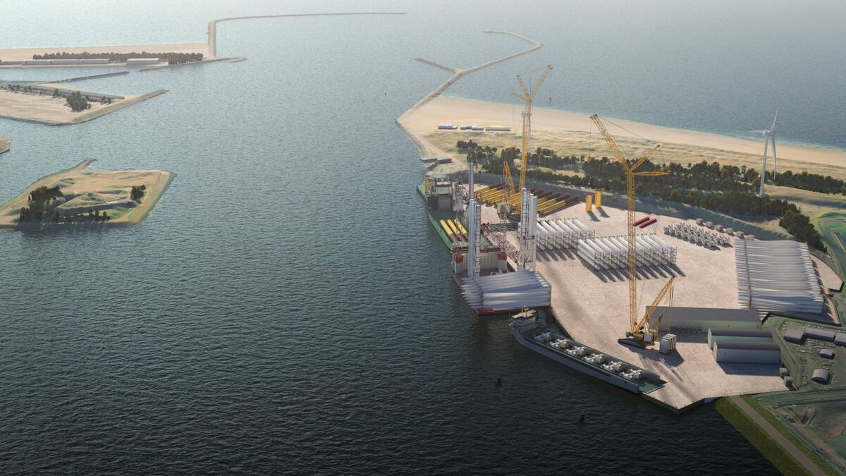 The new facility will have a 580-m quay, of which 200 m will be a heavy duty facility with 12.5-m water depth